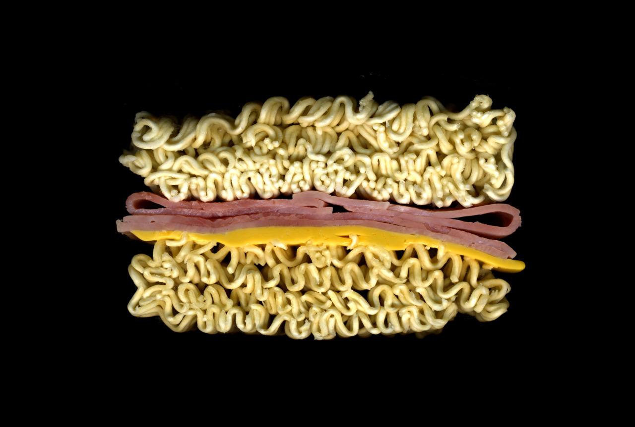 美味しそうなサンドウィッチの断面図15