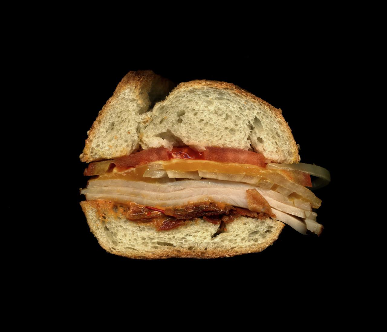 美味しそうなサンドウィッチの断面図13