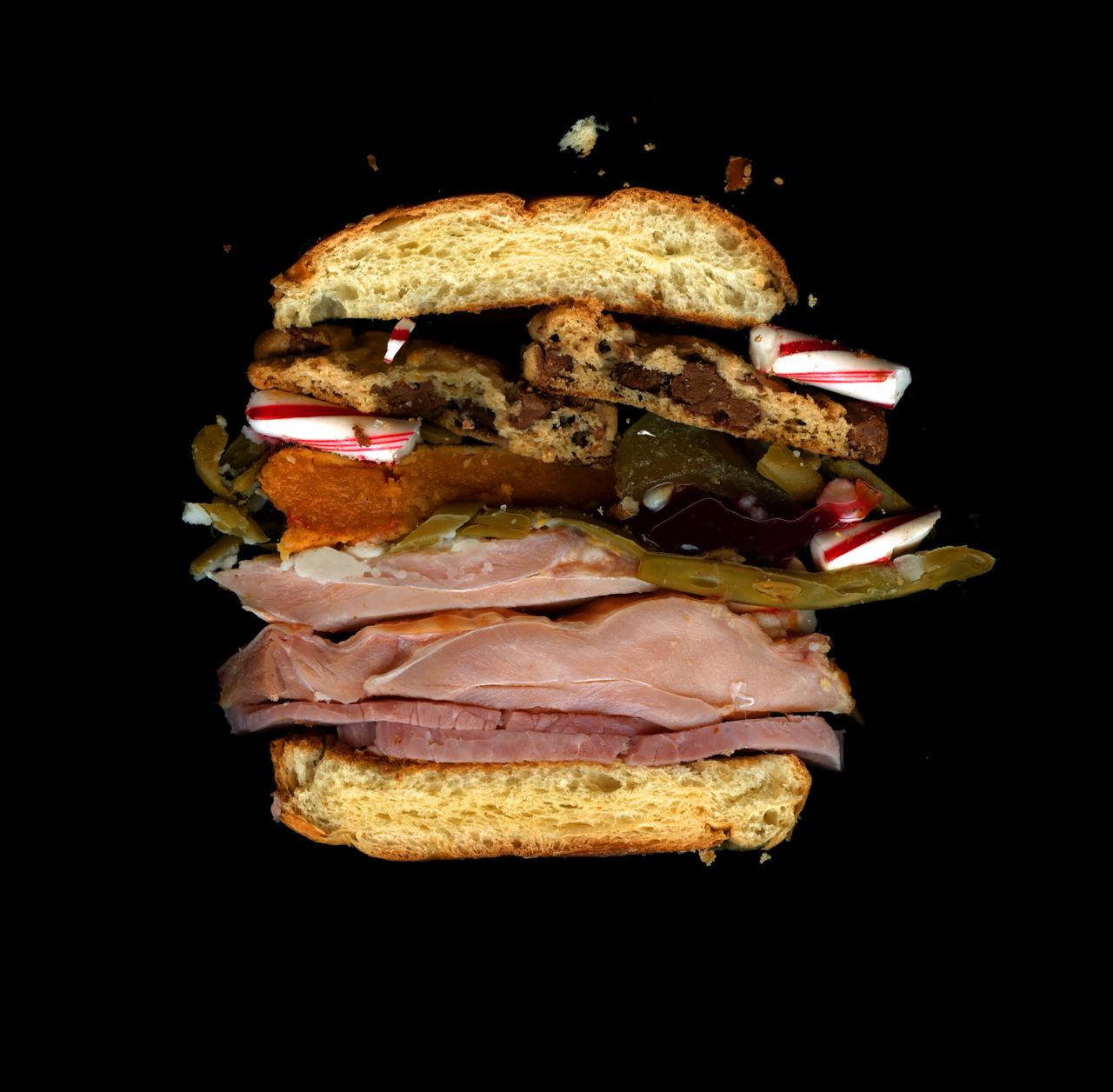 美味しそうなサンドウィッチの断面図11