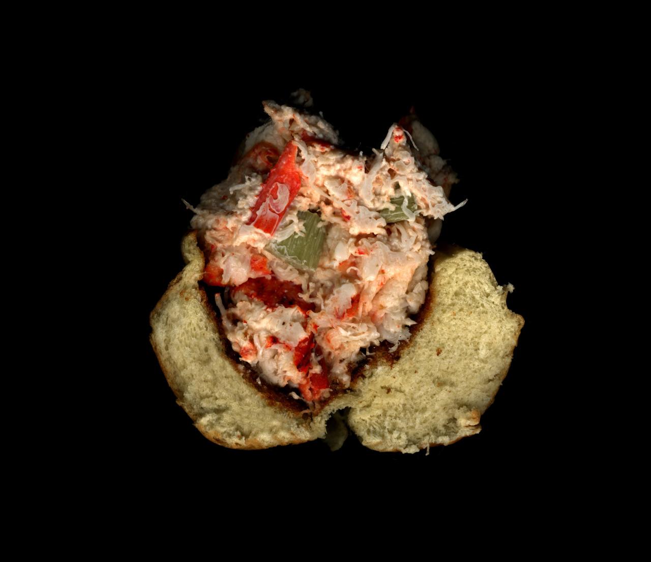 美味しそうなサンドウィッチの断面図7