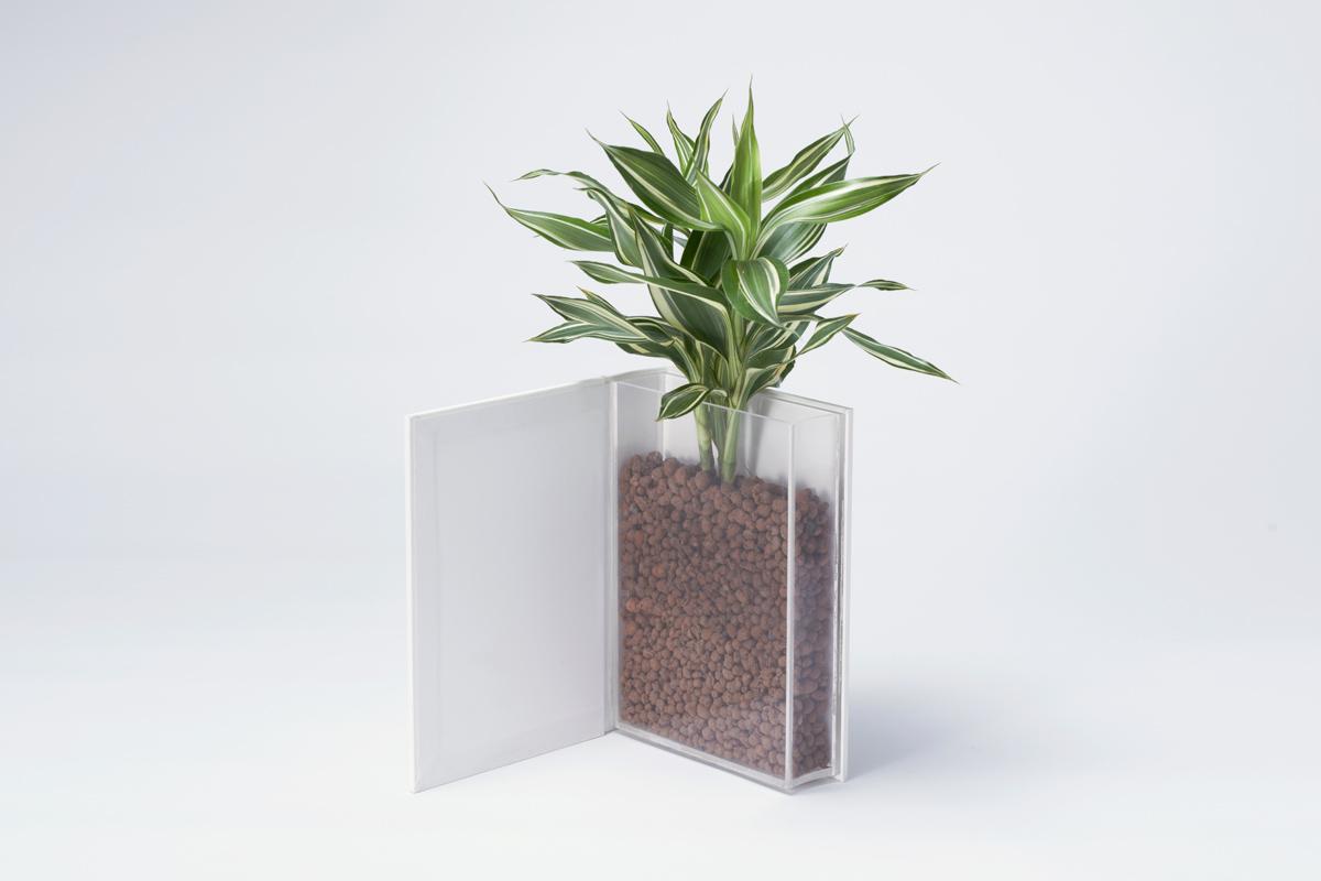 """本の形をした植木鉢""""THE LIFE OF PLANTS""""3"""