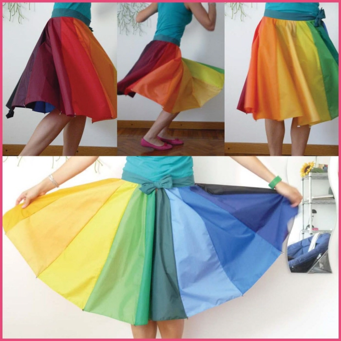 傘の素材でつくった、雨にぬれても大丈夫なスカート「Umbrella Skirt」7
