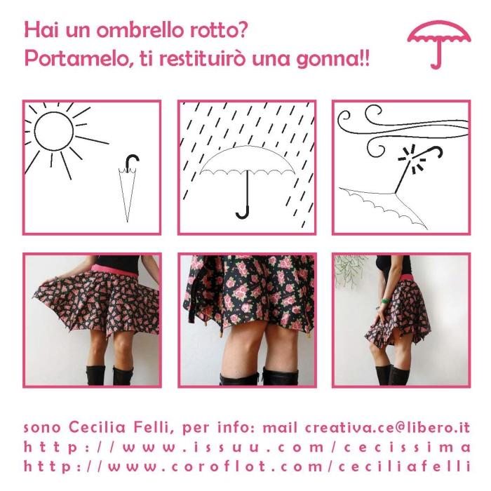 傘の素材でつくった、雨にぬれても大丈夫なスカート「Umbrella Skirt」3
