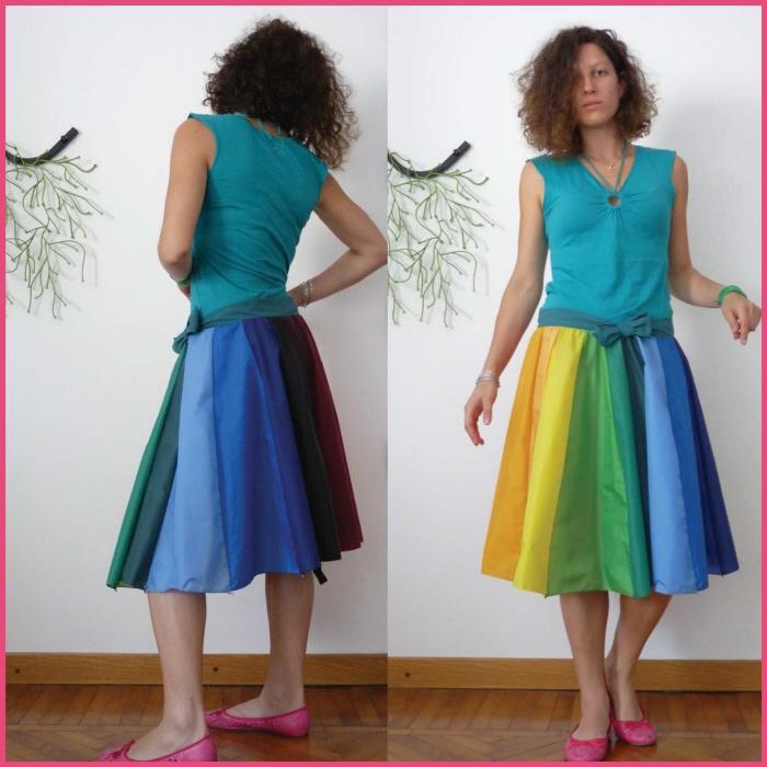 傘の素材でつくった、雨にぬれても大丈夫なスカート「Umbrella Skirt」6