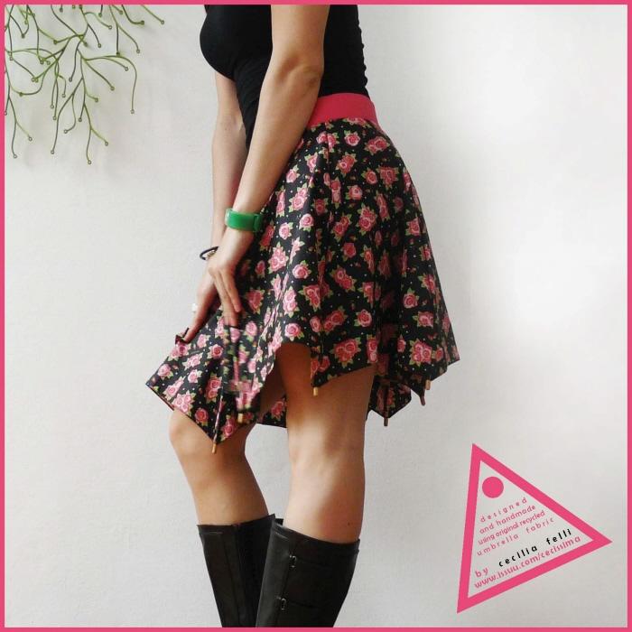 傘の素材でつくった、雨にぬれても大丈夫なスカート「Umbrella Skirt」5