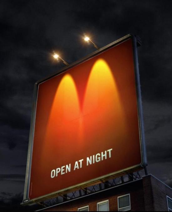 マクドナルドのクリエイティブな広告20選3