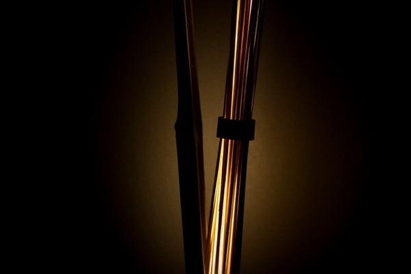 竹で出来た間接照明1
