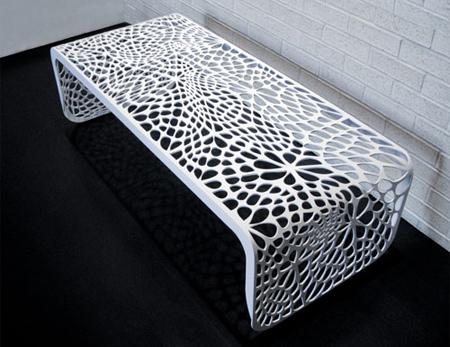 クールでスタイリッシュなデザインのベンチ4