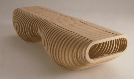 クールでスタイリッシュなデザインのベンチ11