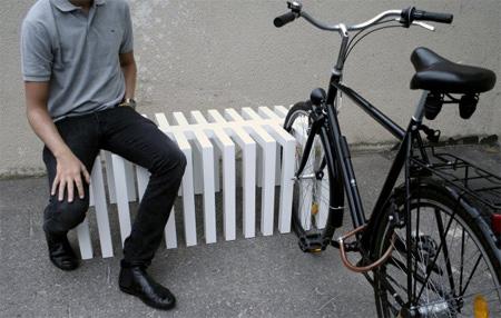 クールでスタイリッシュなデザインのベンチ2