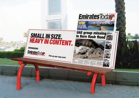 ベンチを使ったクリエイティブな広告9