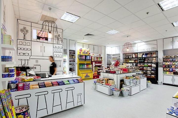 漫画のような世界観のお店「Cartoon Candy Store」2