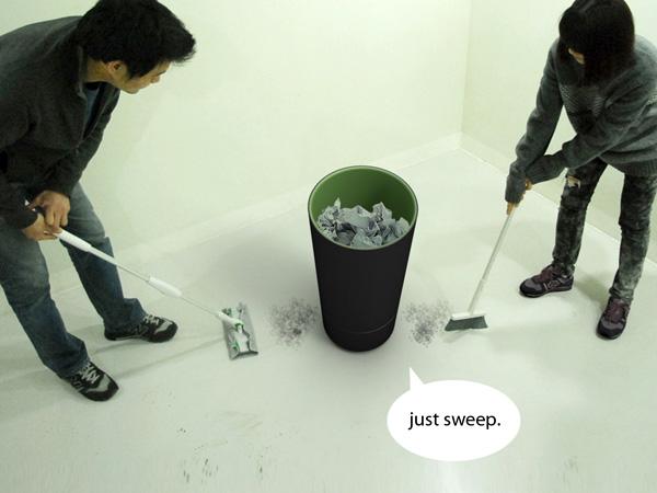 自動でゴミを吸い上げてくれる、掃除機のようなゴミ箱
