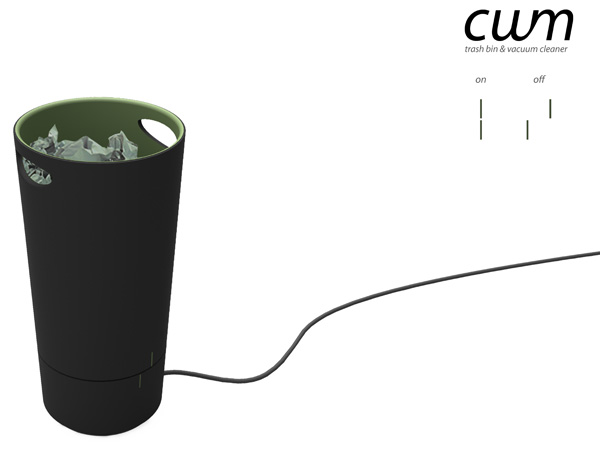 自動でゴミを吸い上げてくれる、掃除機のようなゴミ箱2