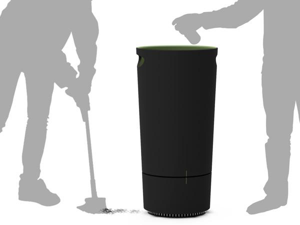 自動でゴミを吸い上げてくれる、掃除機のようなゴミ箱3