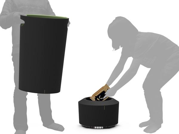 自動でゴミを吸い上げてくれる、掃除機のようなゴミ箱4