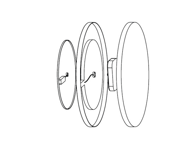 電池で秒針と分針をあらわす不思議な時計「Front & Back」4