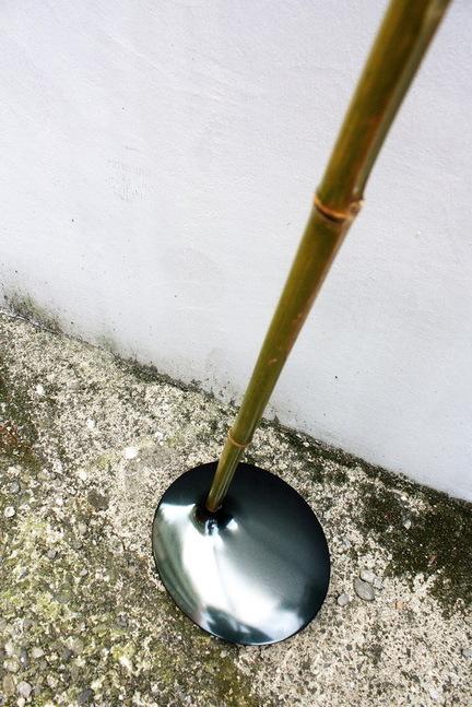 竹で出来た間接照明3