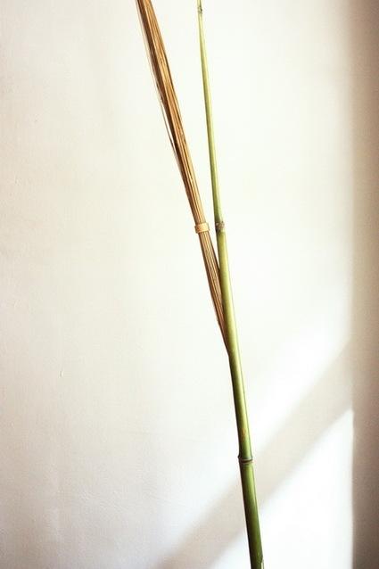 竹で出来た間接照明6