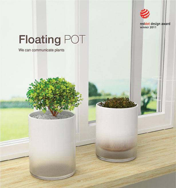 水やりをするタイミングが目でわかる鉢「Floating Pot」1