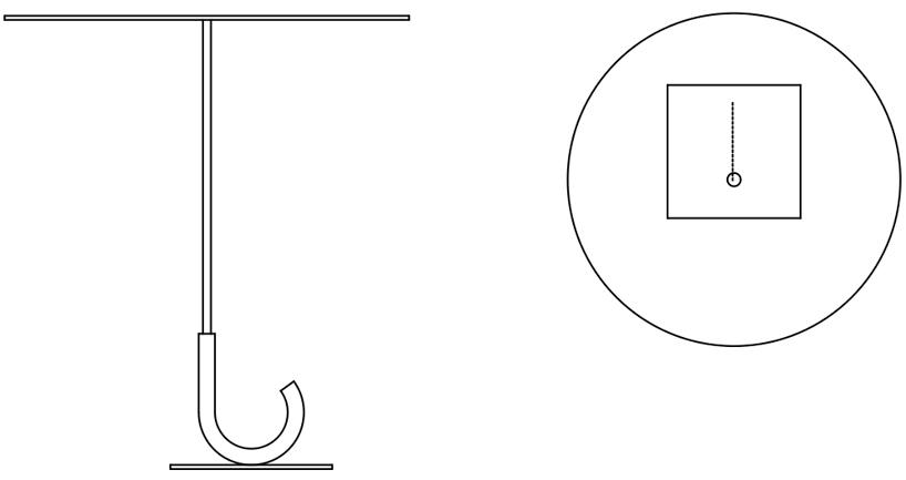 傘の形をしたテーブル「parapluie table」4