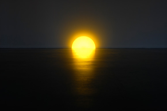夕陽の沈むような間接照明「Skirting Board Sunset」8