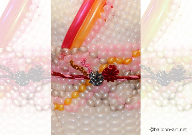2年に1度開催されるバルーンアートの世界大会で優勝した着物の繊細な質感を見事に表現した着物のバルーンドレス4