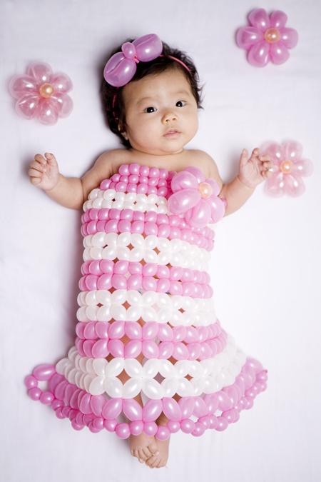 バルーンアーティスト細貝理恵によるバルーンドレス。風船やLEGOなどを使った新作ファッション15