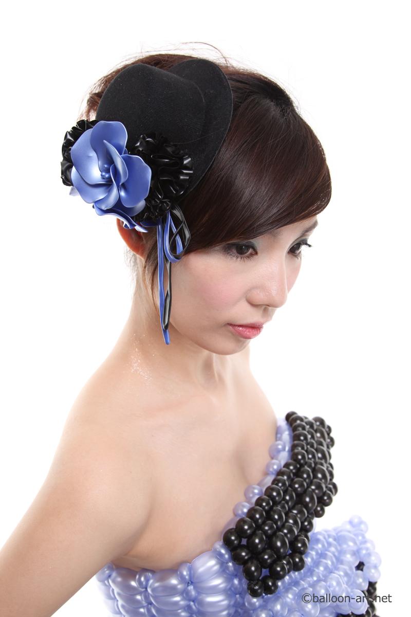 2年に1度開催されるバルーンアートの世界大会で優勝した着物の繊細な質感を見事に表現した着物のバルーンドレス15