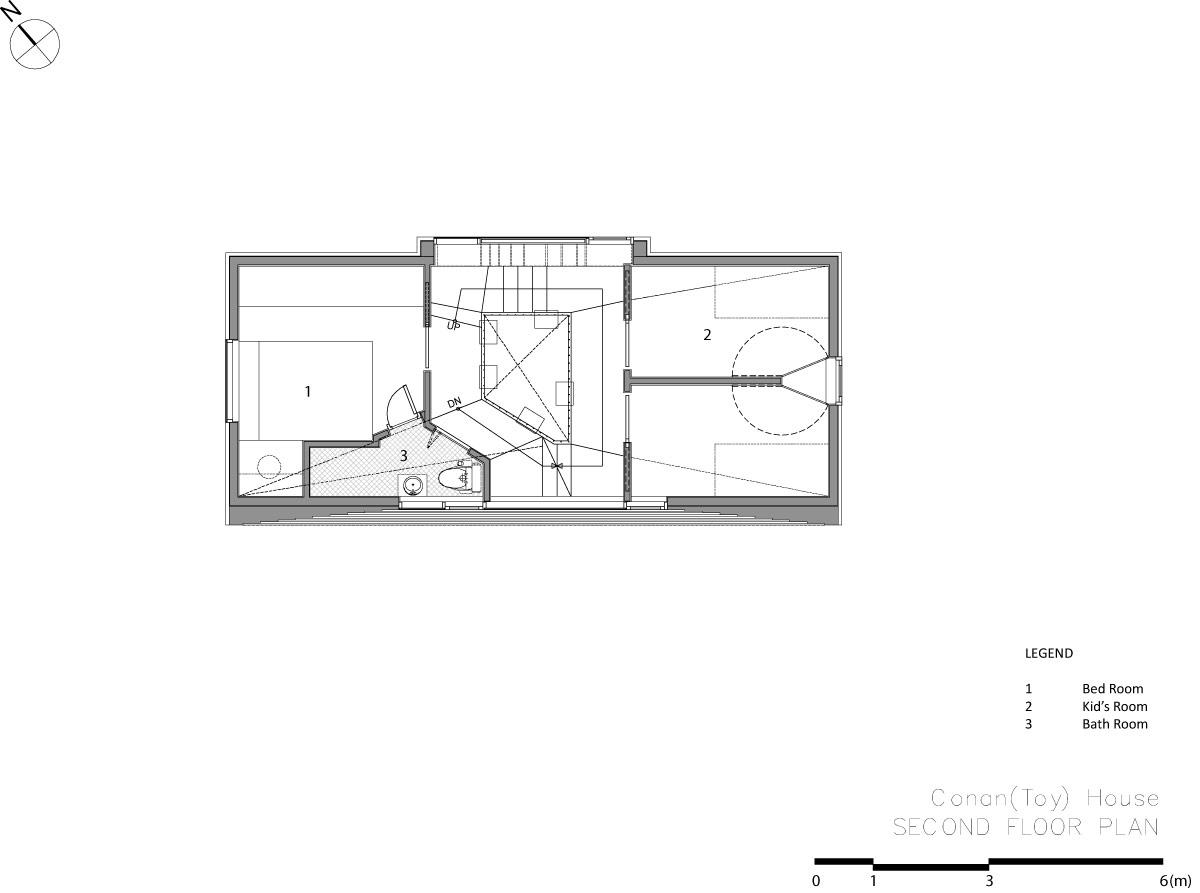 家の中に滑り台など遊び場がある家17