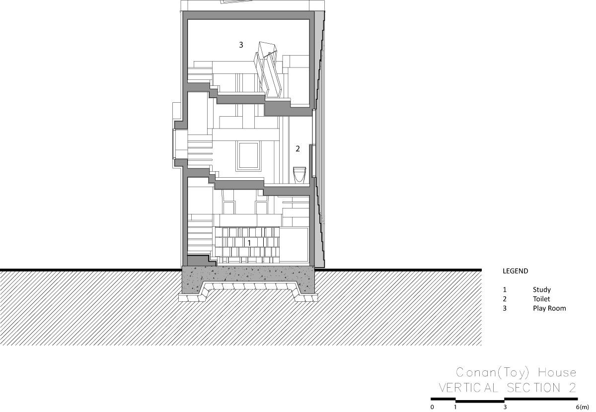 家の中に滑り台など遊び場がある家21