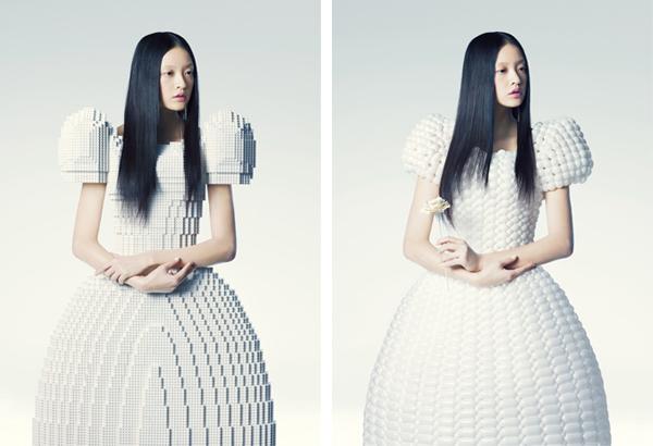 バルーンアーティスト細貝理恵によるバルーンドレス。風船やLEGOなどを使った新作ファッション9