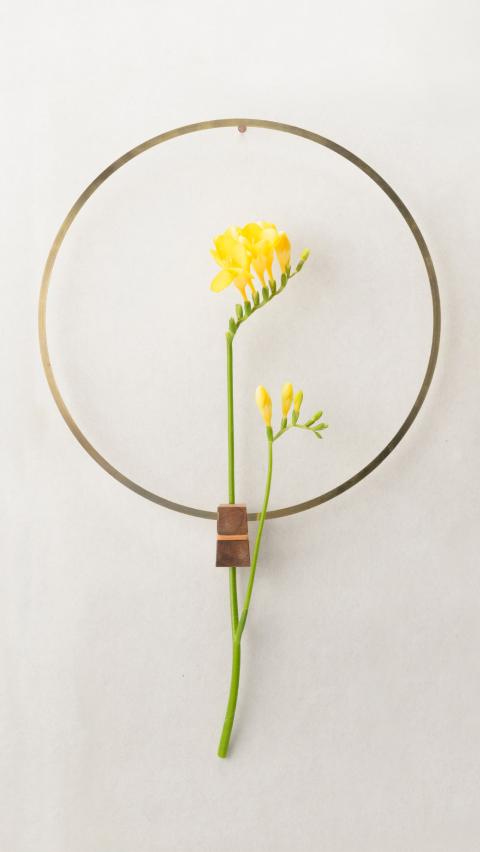 花を逆さまに吊るしゆっくりと乾燥させることでドライフラワーにすることができる花器「fadeless」5