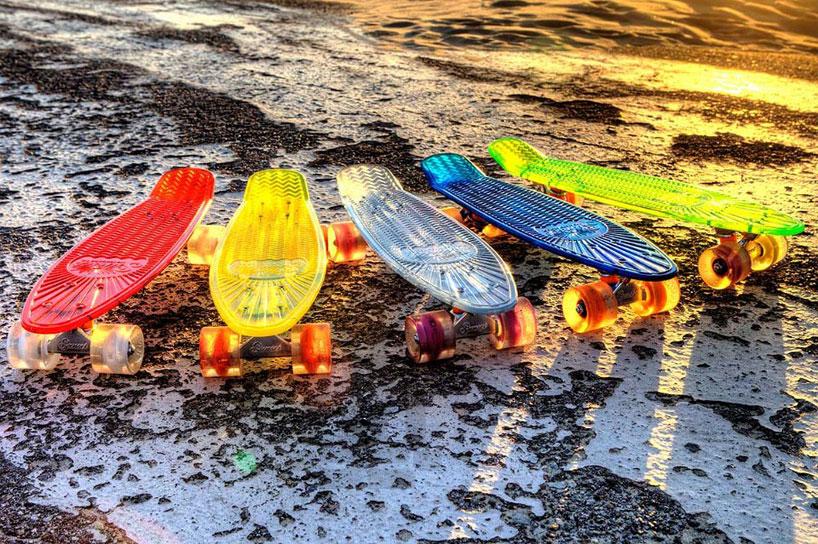 車輪がLEDで光る美しいスケートボード3