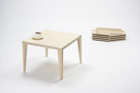 手品のような仕掛けを持っているテーブル「TRICK」5