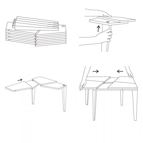 手品のような仕掛けを持っているテーブル「TRICK」2