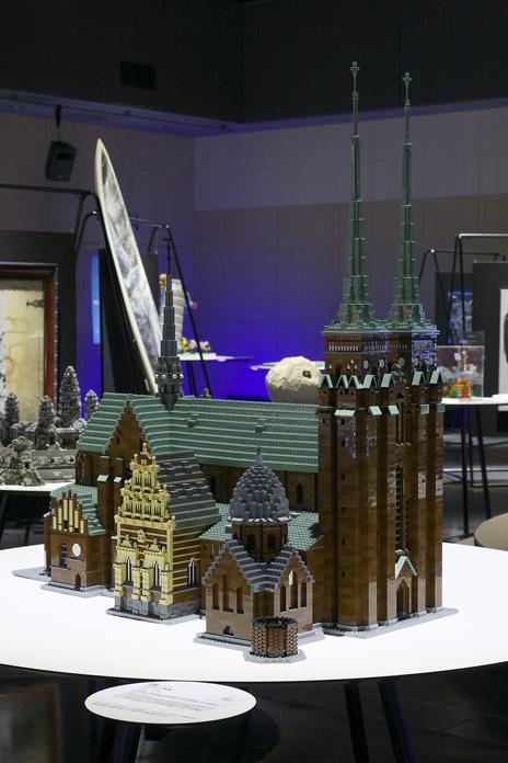 レゴブロックで出来たロスキレ大聖堂