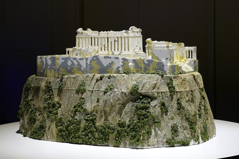 レゴブロックで出来たアテネのアクロポリス