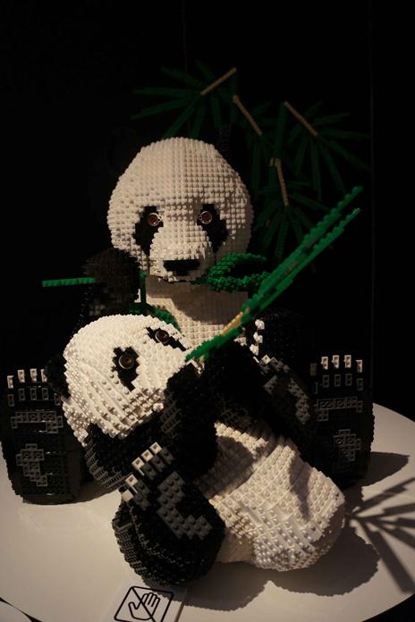 レゴブロックでつくった四川ジャイアントパンダ保護区群