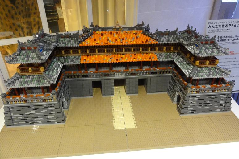 レゴブロックでつくったフエの建造物群