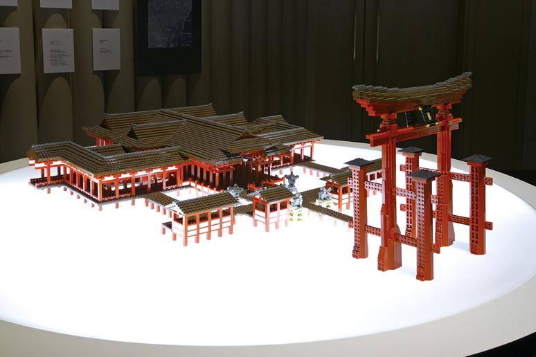 レゴブロックでつくった厳島神社