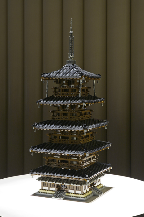 レゴブロックでつくった法隆寺地域の仏教建造物