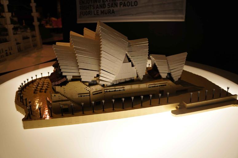 レゴブロックでつくったシドニー・オペラハウス