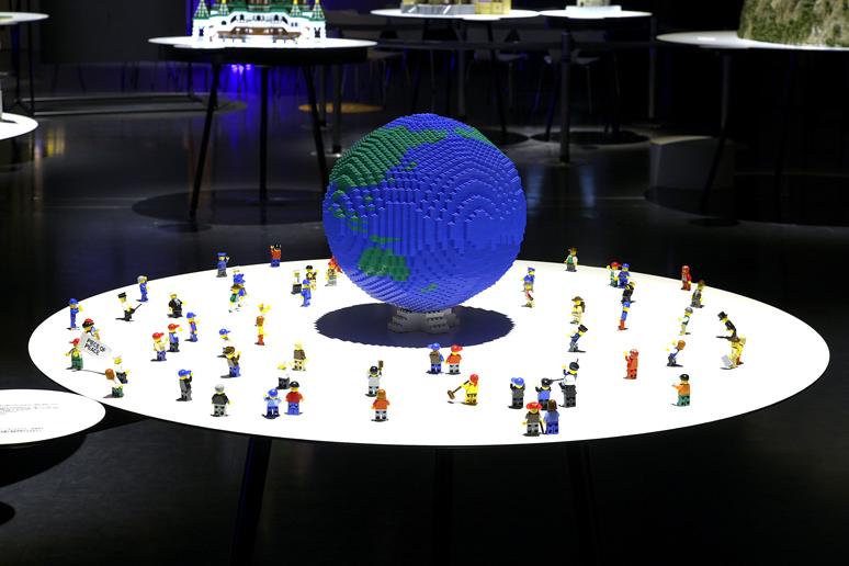 レゴブロックでつくった地球