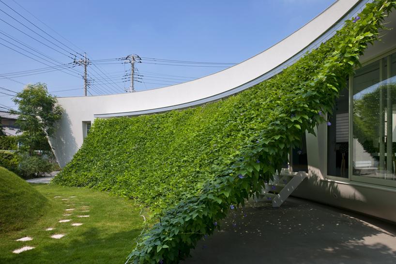 熊木英雄建築事務所の「緑のカーテンの家」