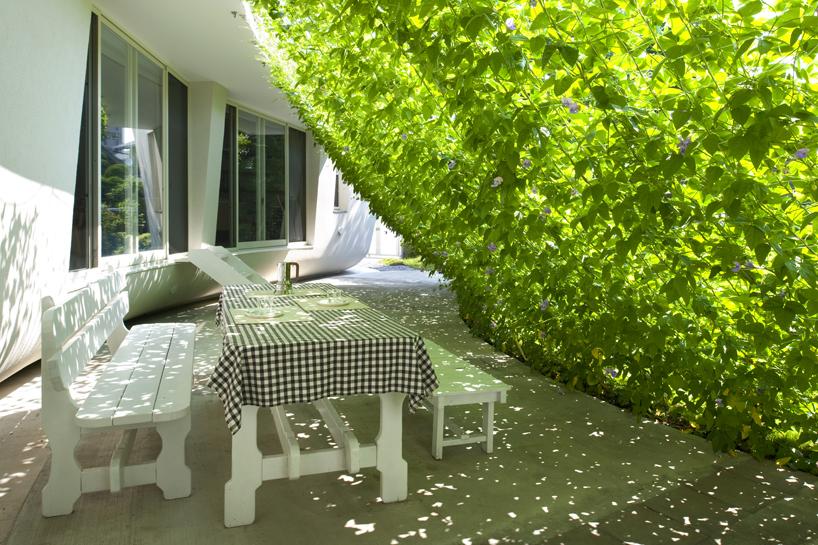 熊木英雄建築事務所の「緑のカーテンの家」2