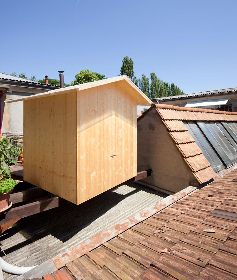 BUREAU Aとスイス人アーティストjérémie gindreが手がけたスイスのジェノバにある屋根の上のサウナ「rooftop sauna」3
