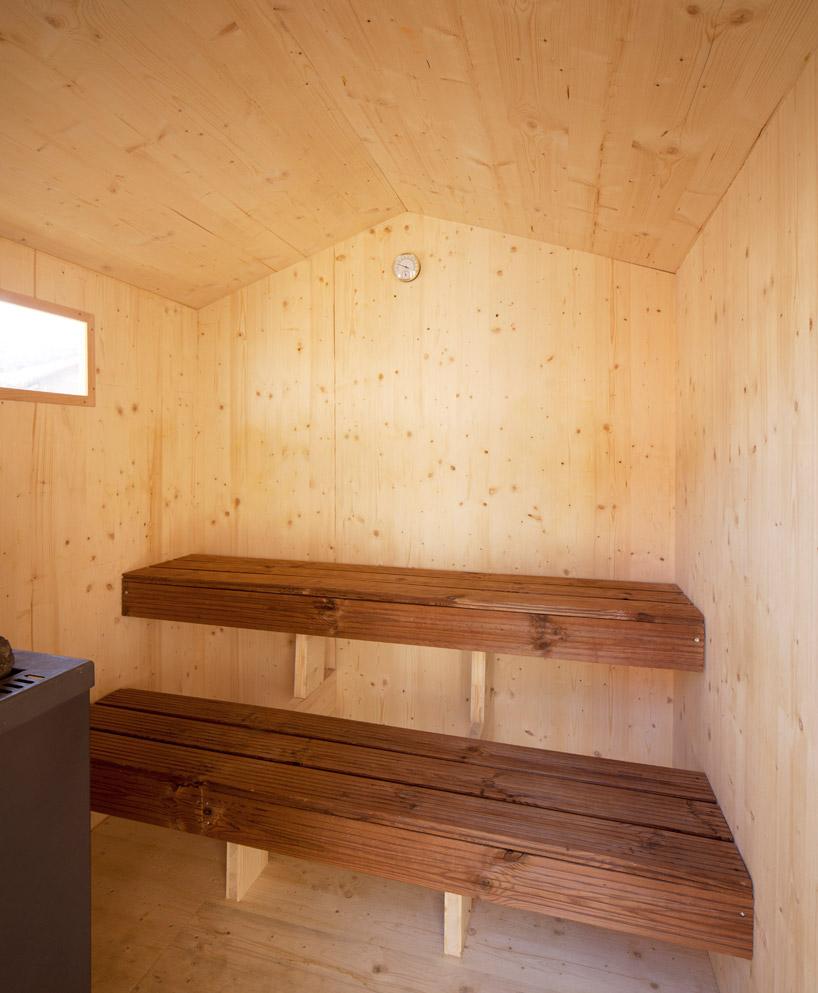 BUREAU Aとスイス人アーティストjérémie gindreが手がけたスイスのジェノバにある屋根の上のサウナ「rooftop sauna」5