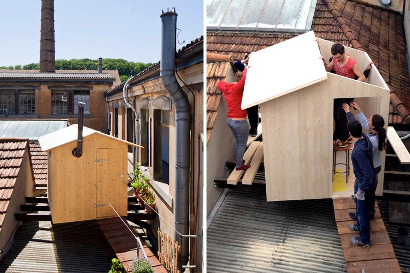 BUREAU Aとスイス人アーティストjérémie gindreが手がけたスイスのジェノバにある屋根の上のサウナ「rooftop sauna」7