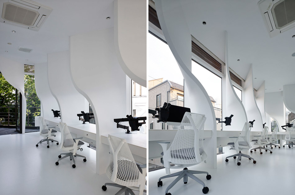Ippin dental laboratory for Research interior decoration and design influences